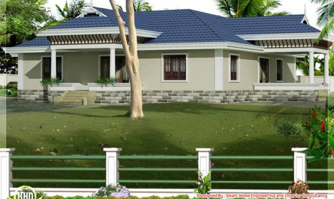 Kerala Style Single Story Bed Room Villa Nadumuttam