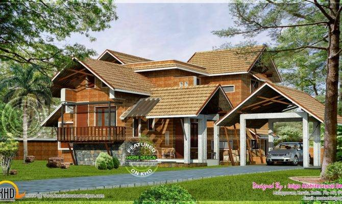 Kerala Traditional Laterite House Home Design