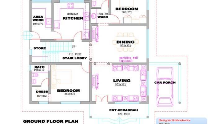 Kerala Villa Design Plan Elevation Feet