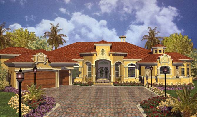 Key West Spanish Style Home Plan House Plans More