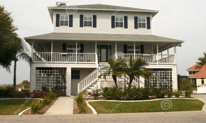Key West Style Home Porch