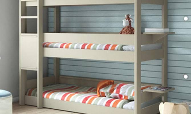 Kids Bedroom Tier Triple Bunk Bed Bunkbed Modern