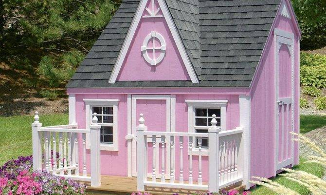 Kids Outdoor Victorian Playhouse Detailed Plan Pdf Plans