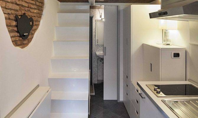 Kitchen Bathroom Stairs Tiny House Rome Home Inspiration
