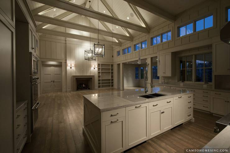 Kitchen Cathedral Ceiling Contemporary Cameo Homes House Plans 28986