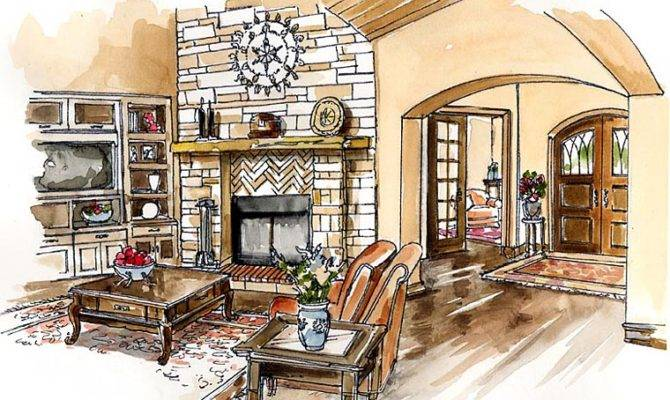 Kitchen Craftsman European Farmhouse Ranch House Plan