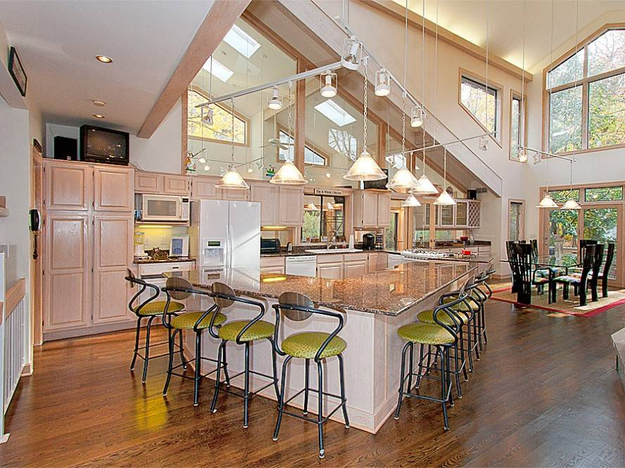 Kitchen Designs Awesome Open Floor Plans Bar Stools House