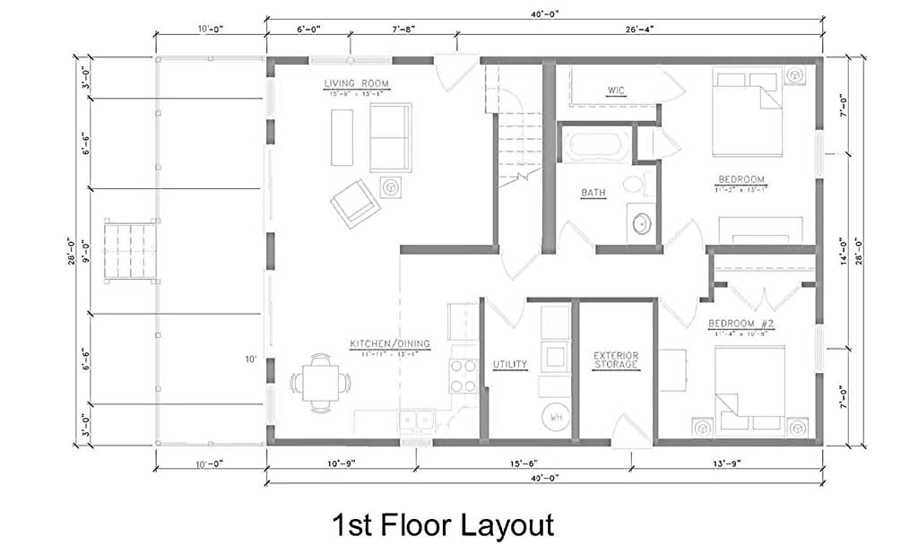 Kitchen Dining Living Room Layouts House Plans 2795