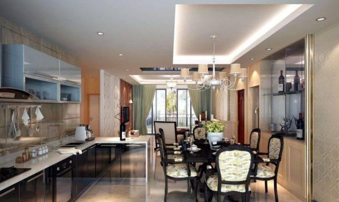 Kitchen Dining Room Living Layout Minimalist