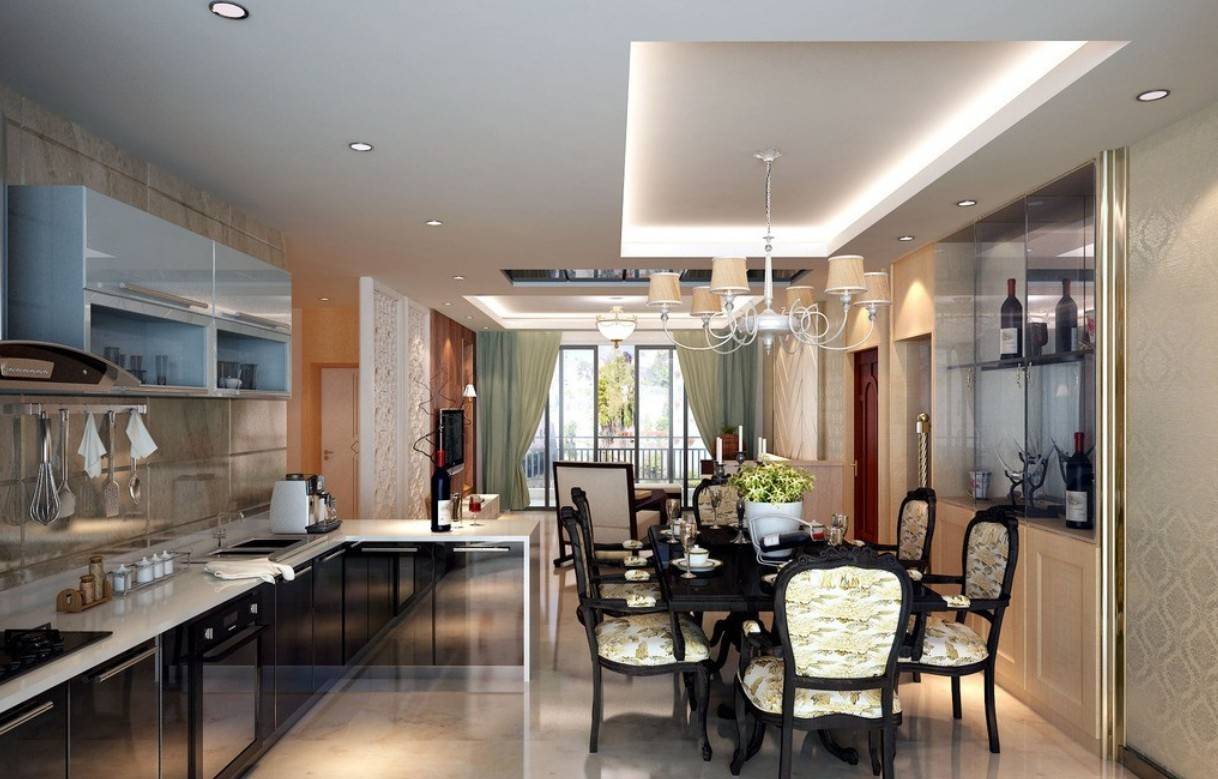 Kitchen Dining Room Living Layout Minimalist House Plans 2798