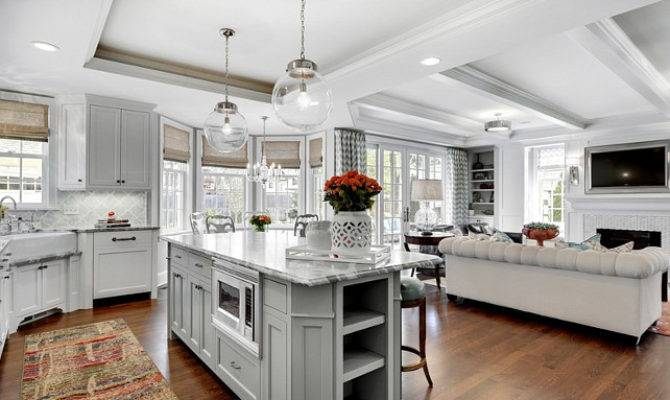Kitchen Familyroom Design Ideas Great Open Floor