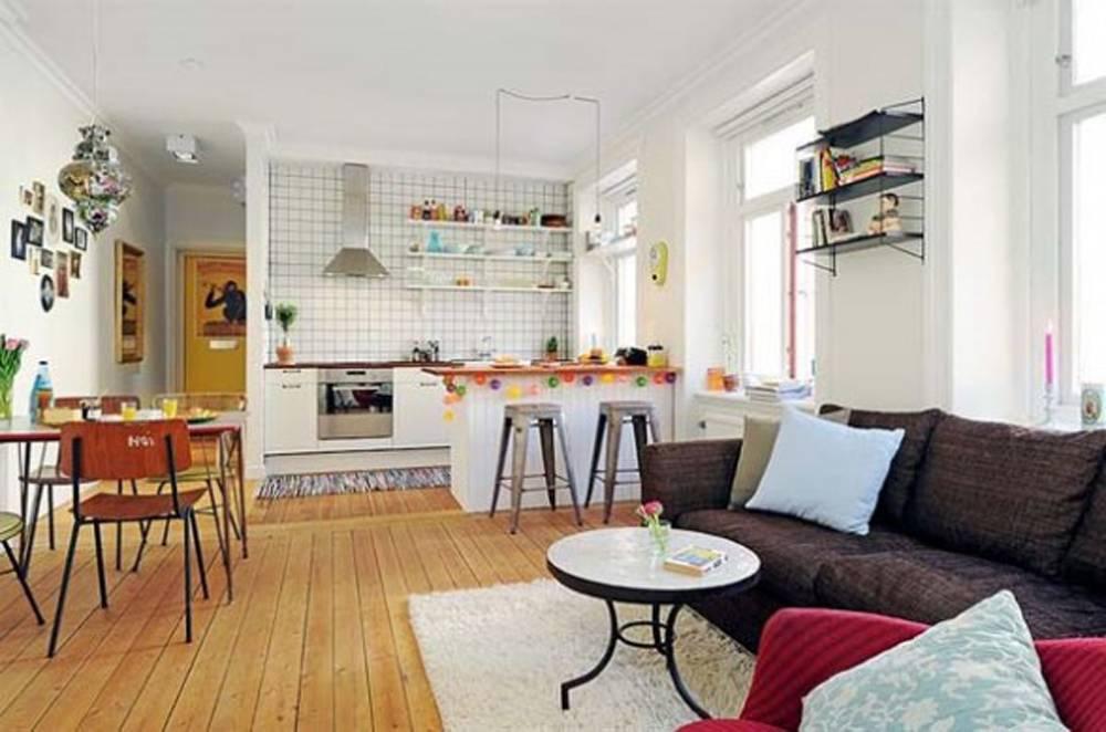 Kitchen Living Room Open Floor Plan Interior Design Architecture House Plans 8803
