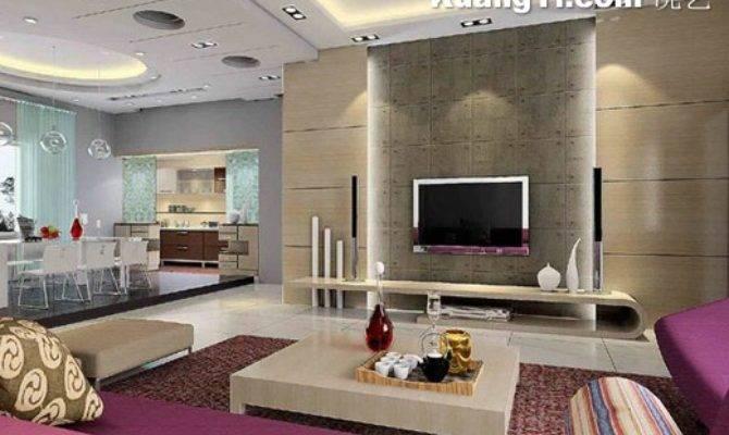 Kitchen Modern Living Room Open Plan Decoration
