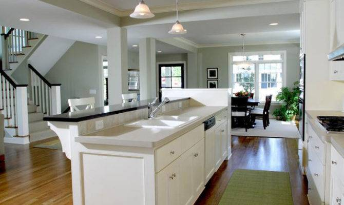Kitchen Open Floor Plan Traditional
