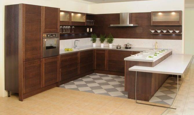 Kitchens Modern Dark Wood
