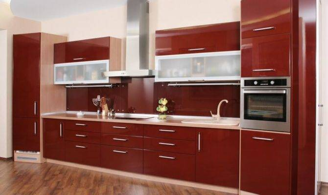 Kitchens Modern Red Kitchen Cabinets
