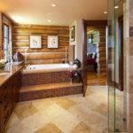 Koselig Hus Log Cabin Master Bathroom Teton Heritage Builders