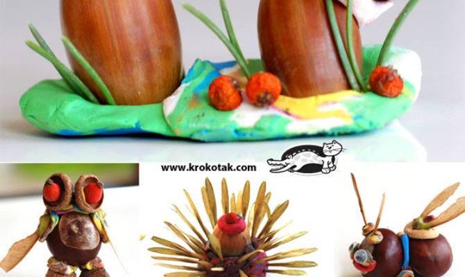 Krokotak New Chestnut Acorn Plasticine Ideas