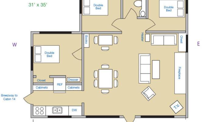Lake Cabin Floor Plans House Home Designs