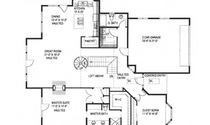 Lake Cabin Floor Plans Modern House Plan First