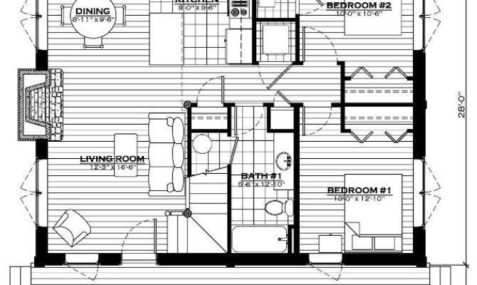 Lake Cabin Log Home Floor Plan Everlog Systems