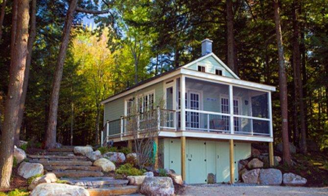 Lake Cabin Plans Narrow Lots House Style