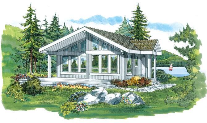 Lake Como Vacation Cabin Home Plan House Plans