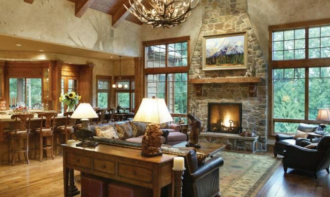 Lake House Plan Great Room