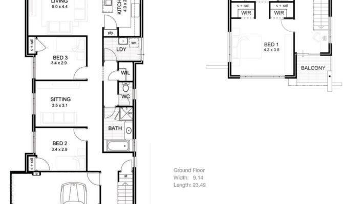 Lake House Plans Narrow Lot Brucall