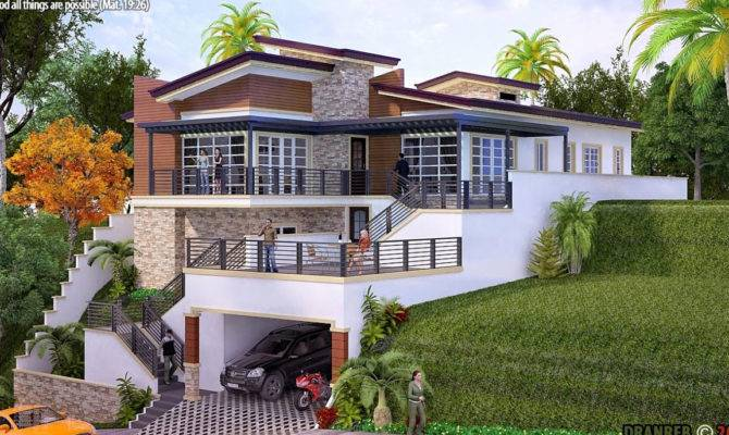 Lake House Plans Rear Luxury Astounding Sloped
