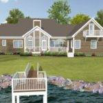 Lake House Plans Rear