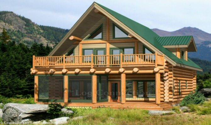 Lake Log Home Plans Cabin Homes House