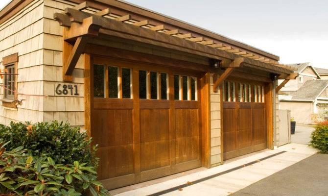 Lake Washington Residence Arts Crafts Garage