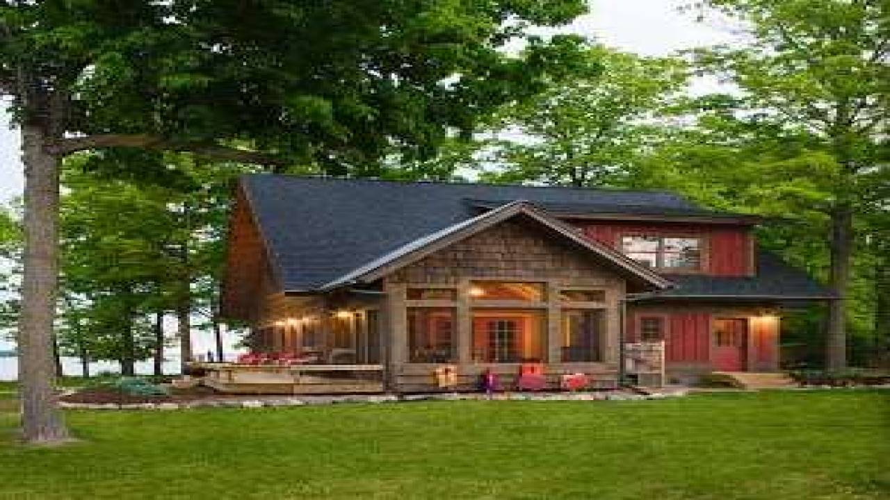 Lakefront Vacation Home Plans Deco   House Plans   20