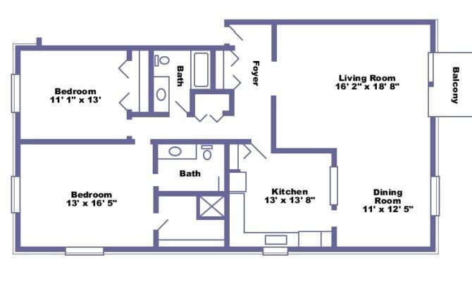 Langley Bed Bath Floorplan