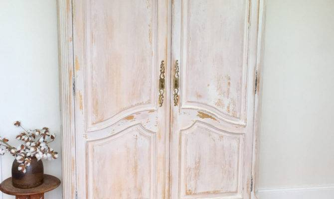 Large Armoire French Provincial Style Shabby Chic