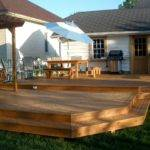 Large Attached Two Tier Deck