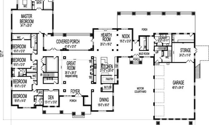 Large Bedroom Bungalow One Storey Dream House
