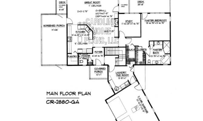 Large Contemporary Ranch Style House Plan