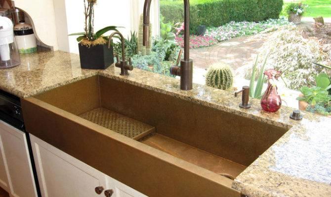 Large Copper Apron Front Sink Rachiele Eclectic