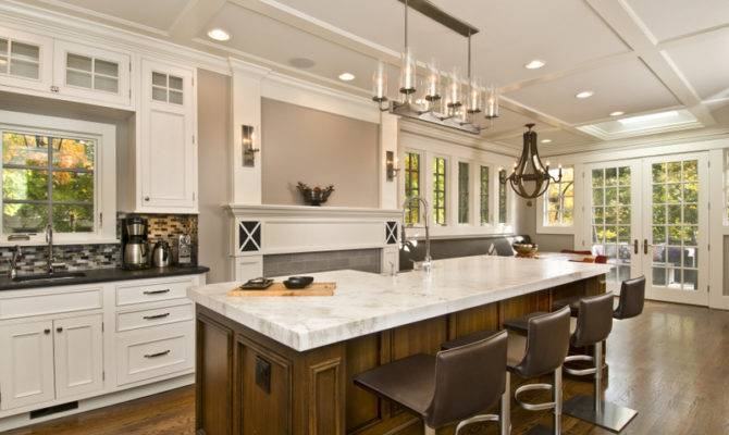 Large Kitchen Island Seating Storage Home Designs Project