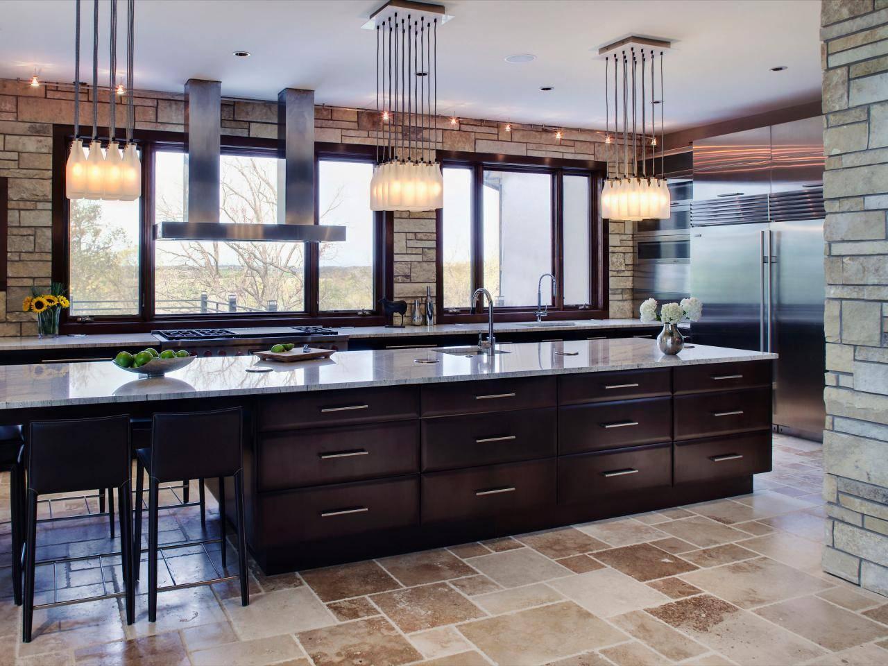 Large Kitchen Islands Hgtv House Plans 157375
