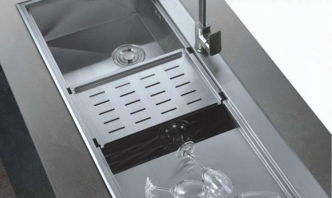 Large Kitchen Sinks Stainless Steel Deep Bowl Sink