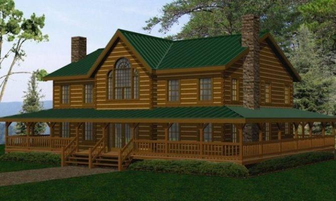 Large Log Homes Cabins Kits Floor Plans Battle Creek