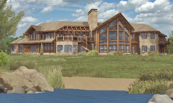 Large Log House Plans Home Deco