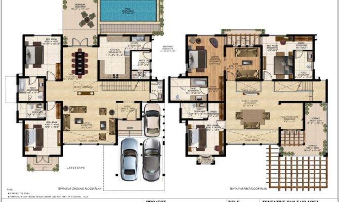 Large Luxury House Plans Villas Cleancrew