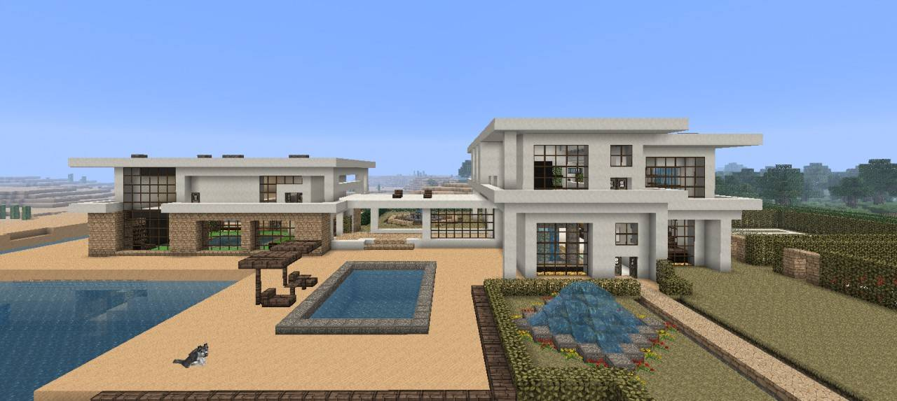 Large Modern Beach House Minecraft Project House Plans 53989