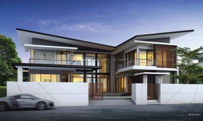 Large Modern Two Storey Home Irregular Roofs Part