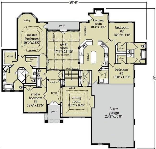 Large Ranch Home Plans Smalltowndjs House Plans 115816,Interesting House Designs