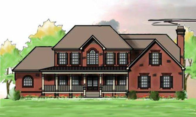 Large Southern Brick House Plan Max Fulbright Designs